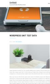 پیش نمایش موبایل قالب وردپرس Unifield