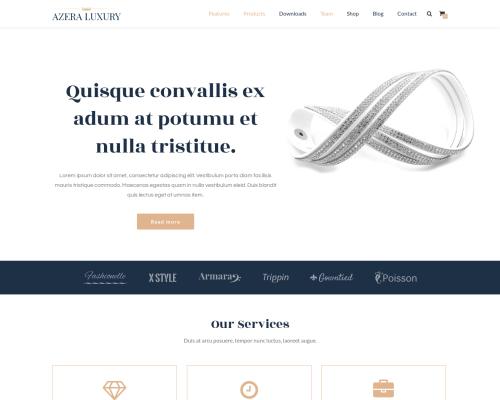 دانلود رایگان قالب وردپرس Azera Shop Luxury