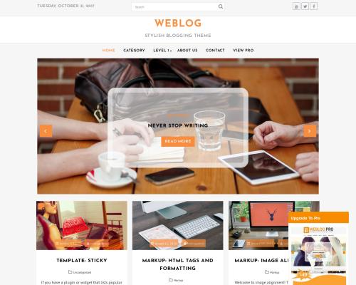 دانلود رایگان قالب وردپرس Weblog