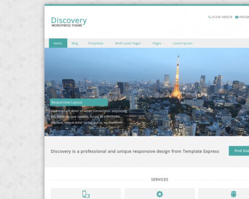 دانلود رایگان قالب وردپرس Discovery
