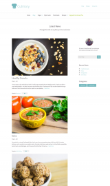 پیش نمایش موبایل قالب وردپرس Culinary