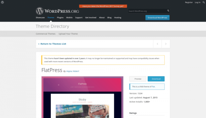 پیش نمایش دسکتاپ قالب وردپرس FlatPress
