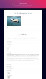 پیش نمایش موبایل قالب وردپرس FlatPress