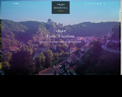 دانلود رایگان قالب وردپرس Resortica Lite