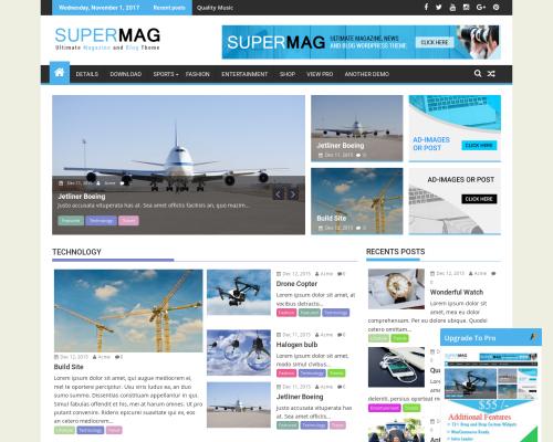 دانلود رایگان قالب وردپرس SuperMag