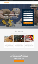 پیش نمایش موبایل قالب وردپرس Construction Company