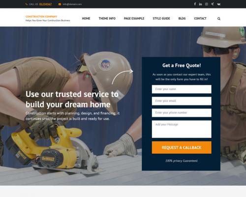 دانلود رایگان قالب وردپرس Construction Company