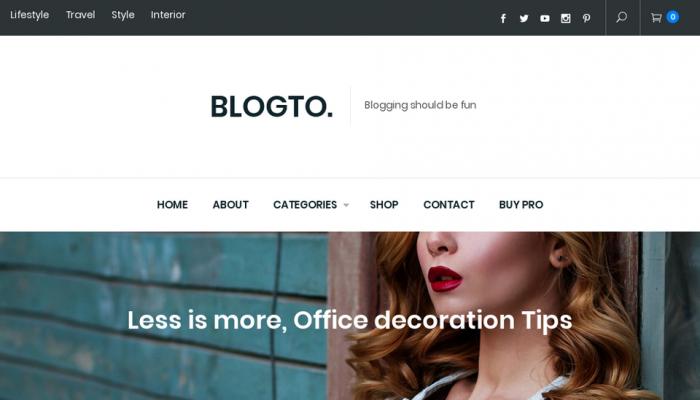 پیش نمایش دسکتاپ قالب وردپرس Blogto