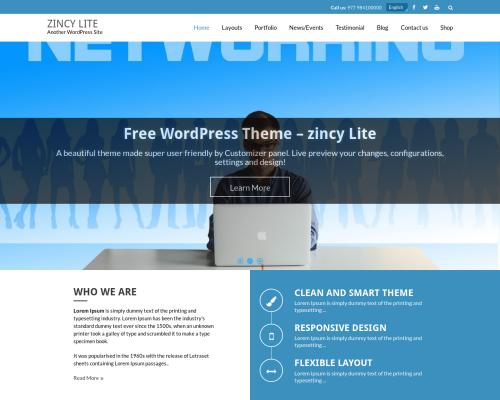 دانلود رایگان قالب وردپرس Zincy Lite