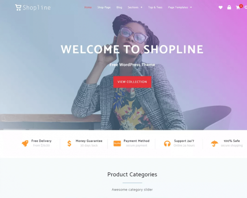 دانلود رایگان قالب وردپرس Shopline