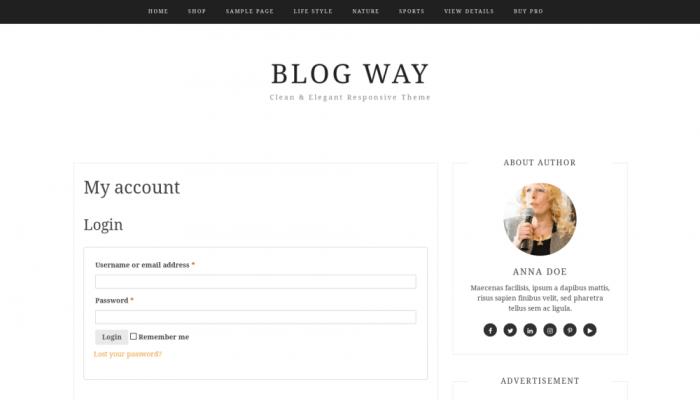 پیش نمایش دسکتاپ قالب وردپرس Blog Way