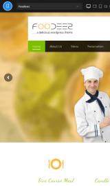 پیش نمایش موبایل قالب وردپرس Foodeez Lite