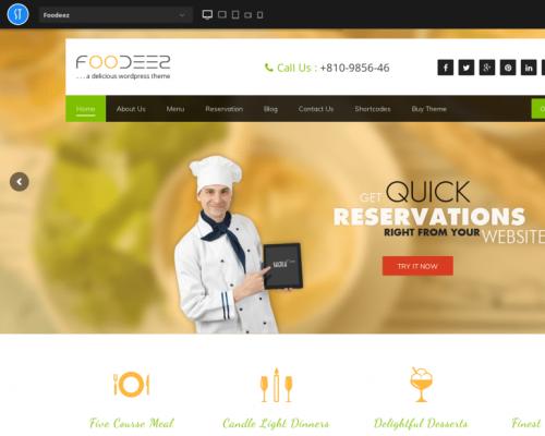 دانلود رایگان قالب وردپرس Foodeez Lite