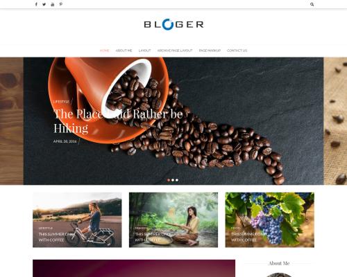 دانلود رایگان قالب وردپرس Bloger