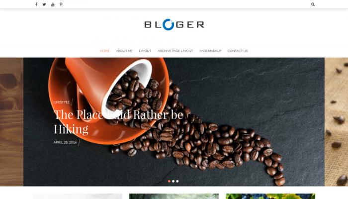 پیش نمایش دسکتاپ قالب وردپرس Bloger