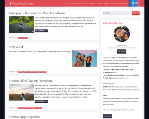 دانلود رایگان قالب وردپرس Page Speed