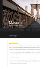پیش نمایش موبایل قالب وردپرس Masonic