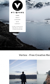 پیش نمایش موبایل قالب وردپرس Vertex