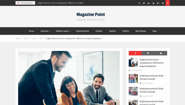 پیش نمایش دسکتاپ قالب وردپرس Magazine Point