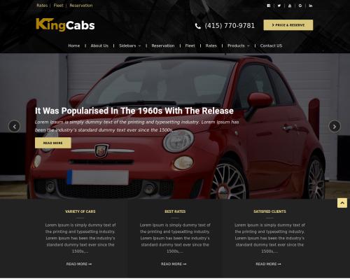 دانلود رایگان قالب وردپرس Kingcabs