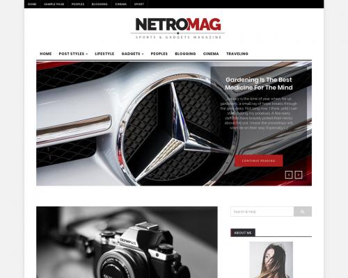 دانلود رایگان قالب وردپرس NetroMag