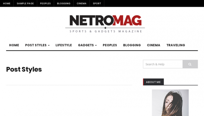پیش نمایش دسکتاپ قالب وردپرس NetroMag