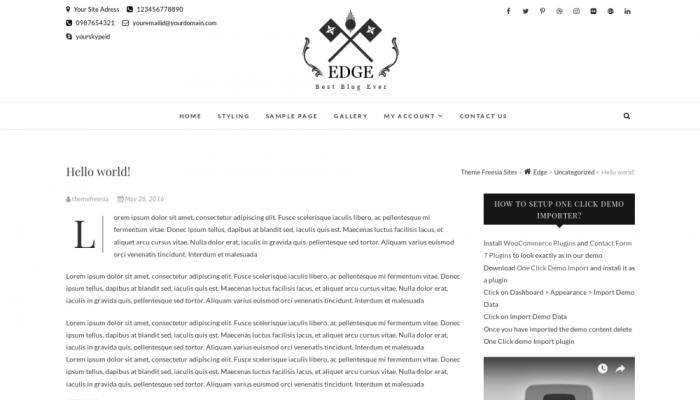 پیش نمایش دسکتاپ قالب وردپرس Edge