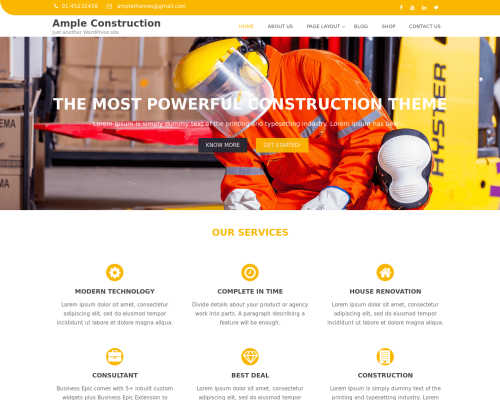 دانلود رایگان قالب وردپرس Ample Construction
