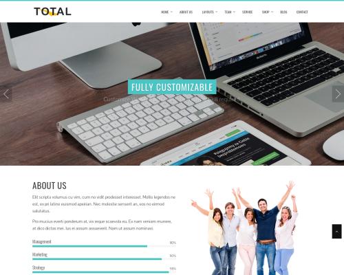 دانلود رایگان قالب وردپرس Total