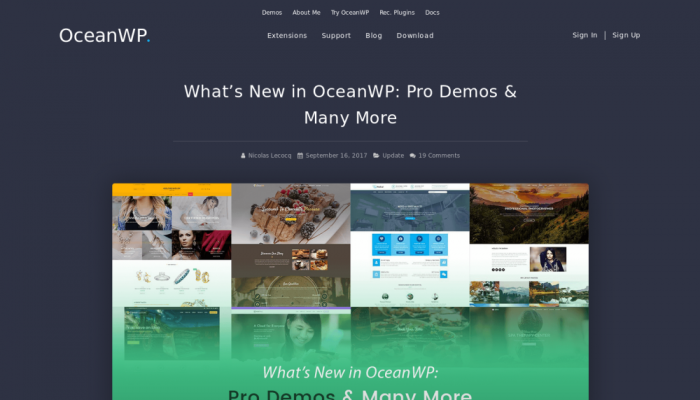 پیش نمایش دسکتاپ قالب وردپرس OceanWP