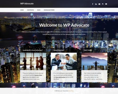 دانلود رایگان قالب وردپرس WP Advocate
