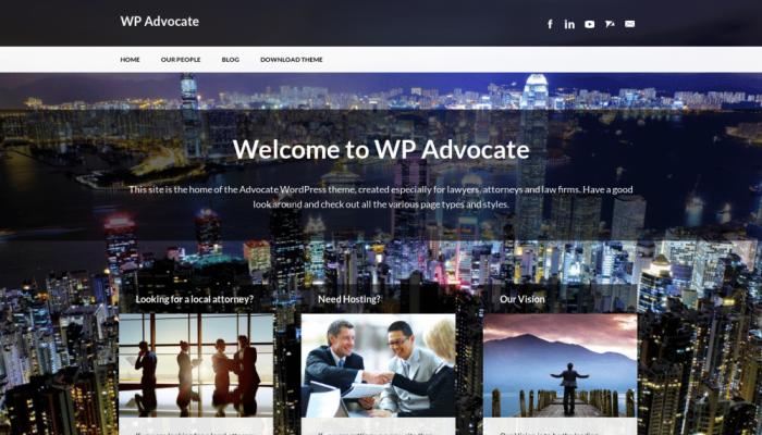 پیش نمایش دسکتاپ قالب وردپرس WP Advocate