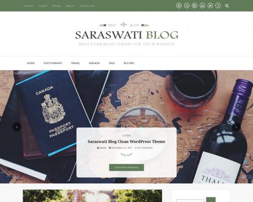 دانلود رایگان قالب وردپرس Saraswati Blog