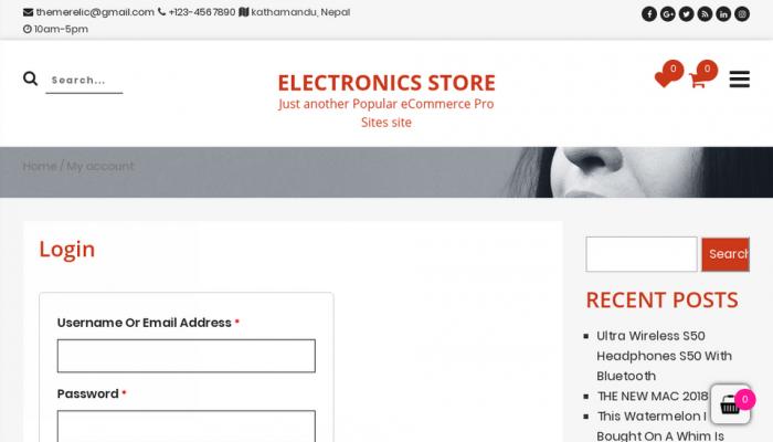 پیش نمایش دسکتاپ قالب وردپرس Popular eCommerce
