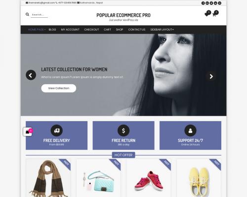 دانلود رایگان قالب وردپرس Popular eCommerce
