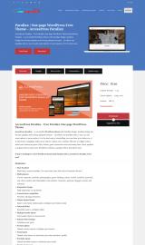 پیش نمایش موبایل قالب وردپرس Accesspress Parallax