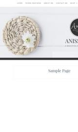پیش نمایش موبایل قالب وردپرس Anissa
