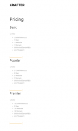 پیش نمایش موبایل قالب وردپرس Crafter
