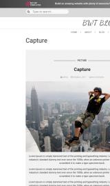 پیش نمایش موبایل قالب وردپرس Multipurpose Blog