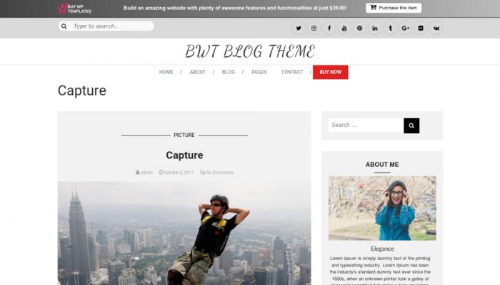 پیش نمایش دسکتاپ قالب وردپرس Multipurpose Blog
