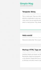 پیش نمایش موبایل قالب وردپرس Simple Mag