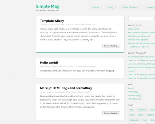 دانلود رایگان قالب وردپرس Simple Mag