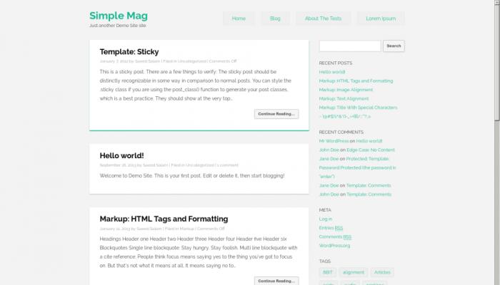 پیش نمایش دسکتاپ قالب وردپرس Simple Mag