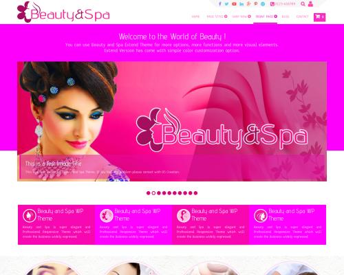 دانلود رایگان قالب وردپرس Beauty and Spa