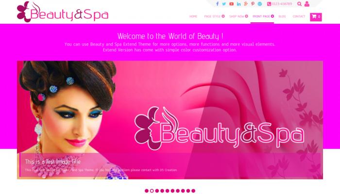 پیش نمایش دسکتاپ قالب وردپرس Beauty and Spa