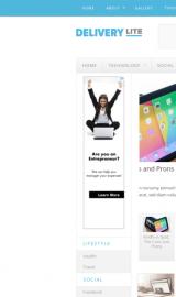 پیش نمایش موبایل قالب وردپرس Delivery Lite