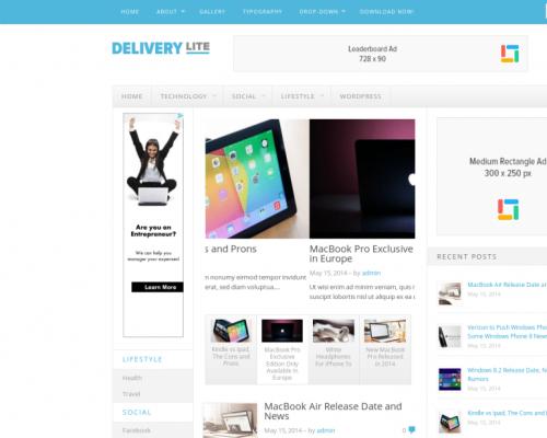 دانلود رایگان قالب وردپرس Delivery Lite