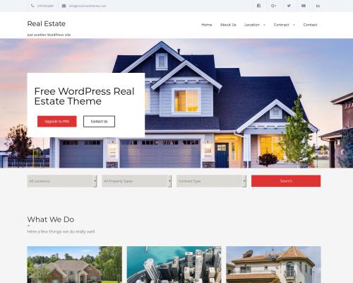 دانلود رایگان قالب وردپرس Real Estate Lite