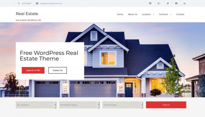 پیش نمایش دسکتاپ قالب وردپرس Real Estate Lite