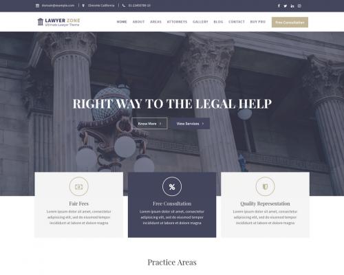 دانلود رایگان قالب وردپرس Lawyer Zone